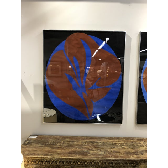 pair of original gouache abstract by noted artist Jack Youngerman