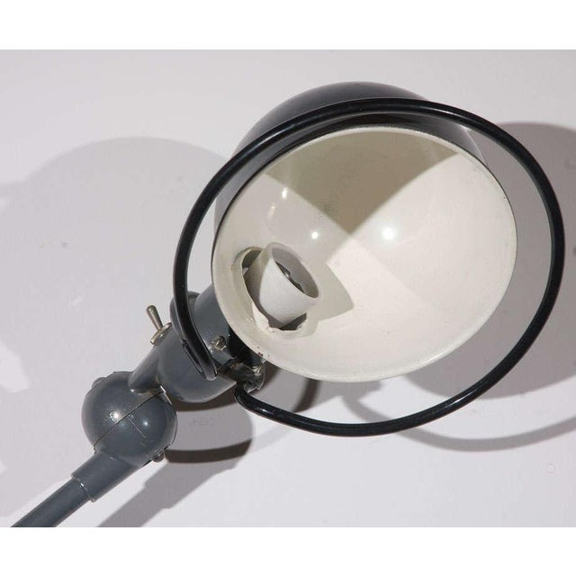 Vintage Jielde Factory French Industrial Metal Lamp For Sale - Image 9 of 10