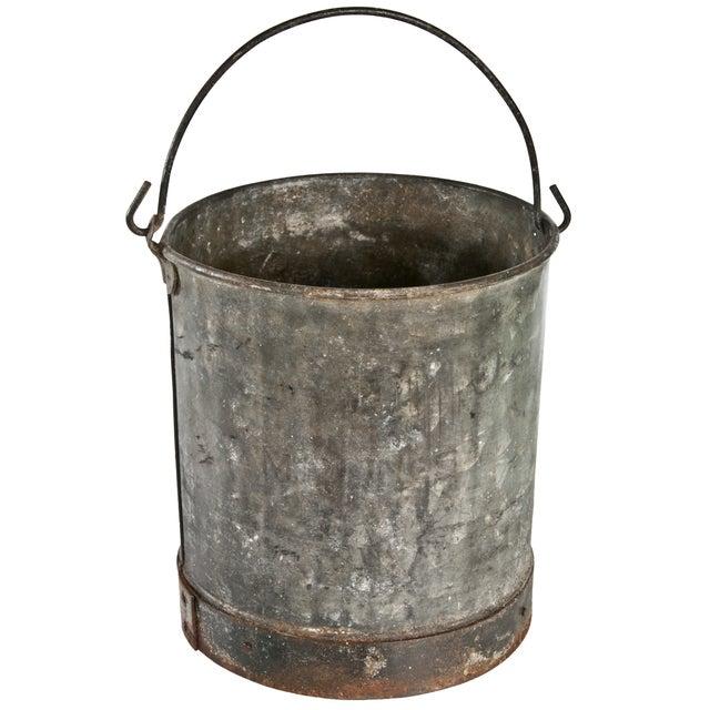 Vintage Metal Bucket For Sale