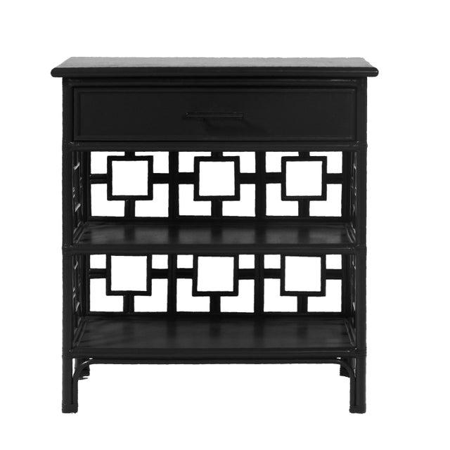 Coastal Sobe End Table - Black For Sale - Image 3 of 7