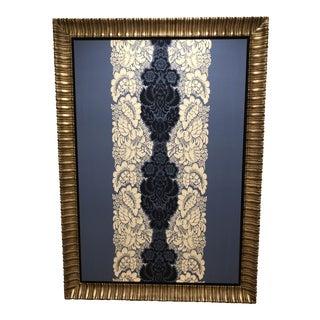 Gold Framed Marimekko Fabric For Sale