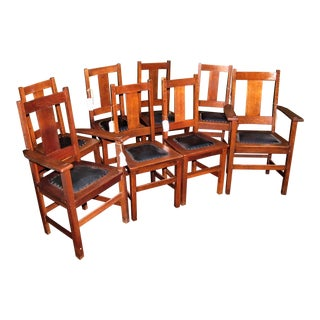 Antique Limbert Dining Chairs - Set of 8 For Sale