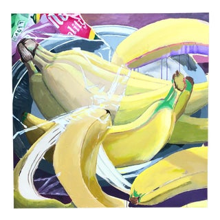 Modern Banana Painting on Canvas For Sale