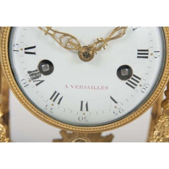 Metal 18th Century Gilt Bronze French Portico Clock For Sale - Image 7 of 12