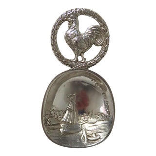 Vintage Edinburgh Scotland Sterling Silver Tea Caddy Spoon For Sale