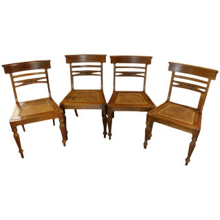 Hand Crafted Anglo-Indian Style Regency Taste Side Chairs - Set of 4 For Sale