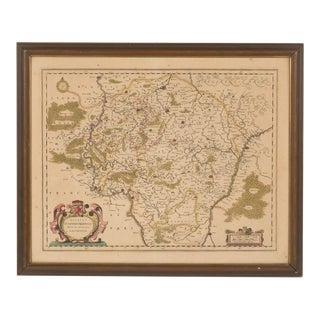 Early 20th-Century Reproduction of 1600's Map of Leodiensis Roman Empire For Sale