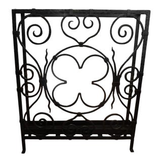 1930's Edgar Brandt French Art Deco Wrought Iron Umbrella Stand For Sale