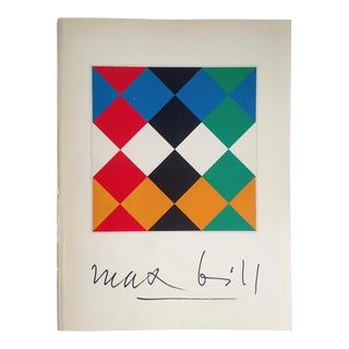 """ Max Bill "" Rare Vintage 1974 Lmtd 1st Edtn Iconic Museum Exhibition Catalogue Modernist Collector's Book For Sale"