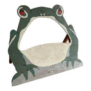 1950s Painted Frog Bean Bag Toss Backboard For Sale