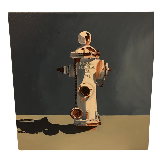 Jody Litton Fire Hydrant Oil Painting - Image 1 of 6