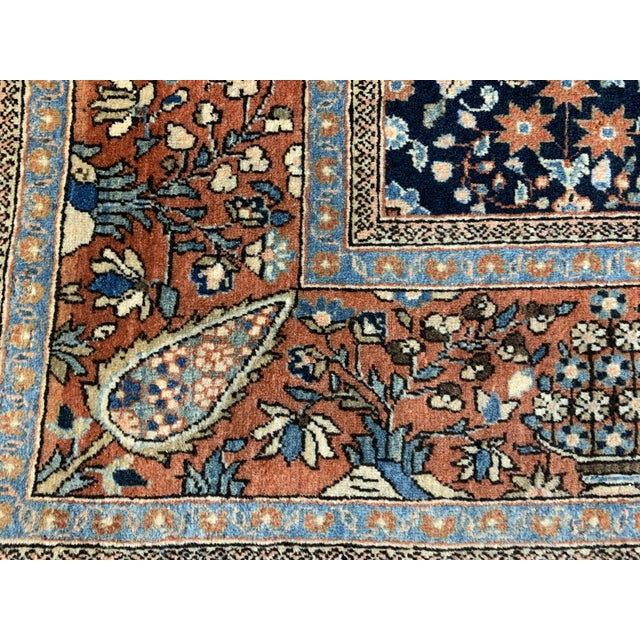 1910s 1910s Antique Persian Kashan Rug- 4′ × 6′6″ For Sale - Image 5 of 12