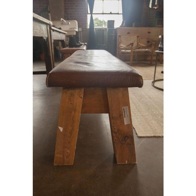 Dark Brown Large Vintage Leather Gym Mat Seating - Image 3 of 6