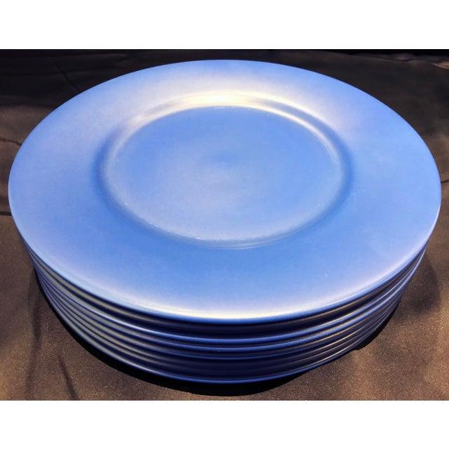Gien Gien France Blue Chargers - Set of 8 For Sale - Image 4 of 9
