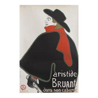 1960s Toulouse Lautrec Poster, Aristide Bruant dans son Cabaret