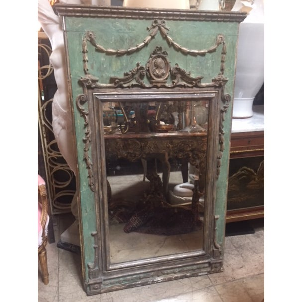 Late 18th Century Italian Green & Gold Mirror For Sale - Image 12 of 12