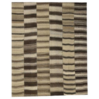 20th Century Turkish Kilim Rug With Modern Style, Oversize Rug 13'00 X 16'00 For Sale