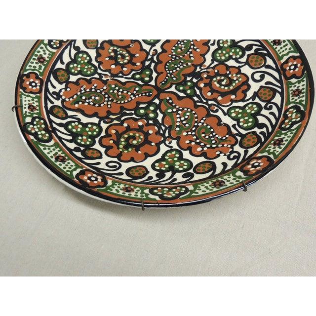 Vintage Moroccan Ceramic Plate - Image 3 of 4