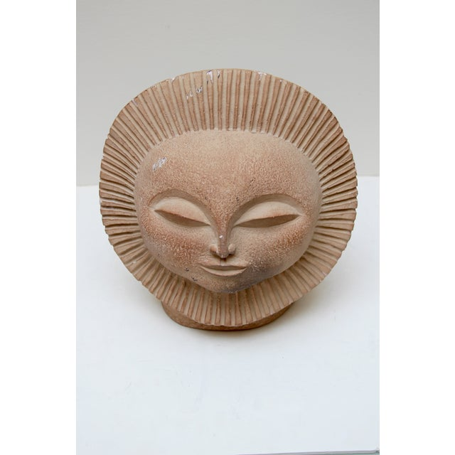Boho Chic Mid-Century Sun Face Sculpture For Sale - Image 3 of 9