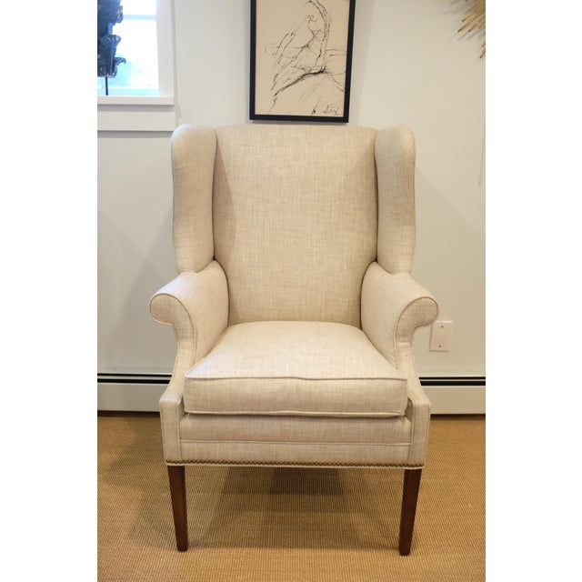 Hollywood Regency Century Wingback Chair For Sale - Image 11 of 11