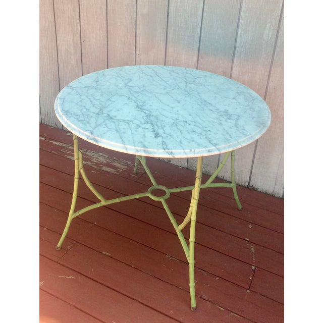 Marble Top Bistro Table - Image 2 of 8