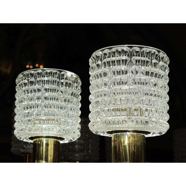 1960s Large-Scale Swedish Chandelier With Cut Crystal Shades by Orrefors For Sale - Image 5 of 6
