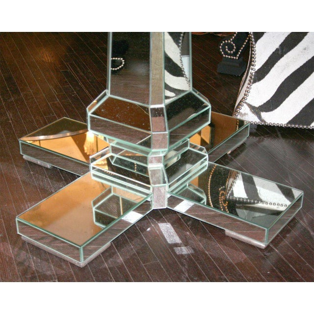 Custom Mirrored Center Hall Table. Custom Order Piece. Priced According To Size.