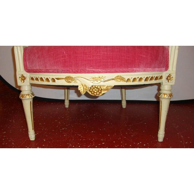 Pair of Carved Fauteuils by Gustavian Side Chairs by Maison Jansen For Sale - Image 9 of 11