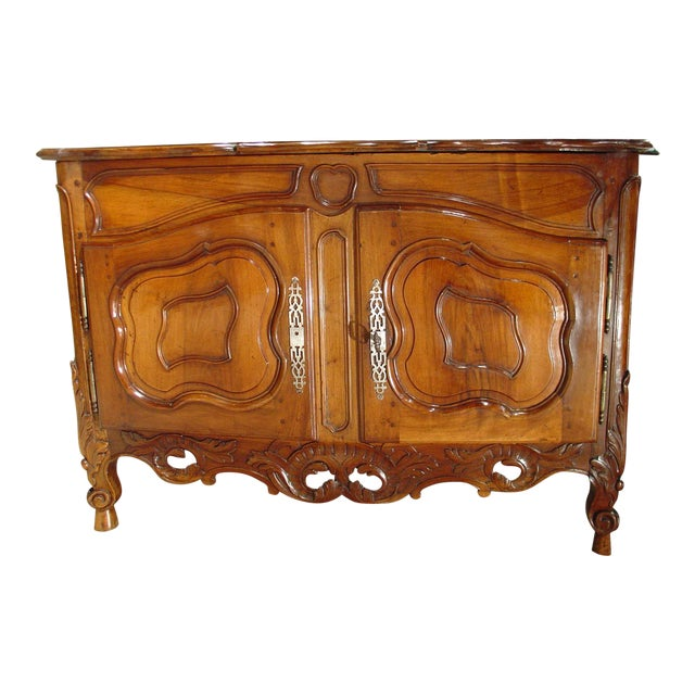 Exquisite 18th Century Walnut Wood Buffet Nimoise For Sale