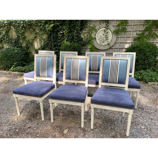 Set of Seven Dining Chairs by Bernhardt For Sale - Image 12 of 13