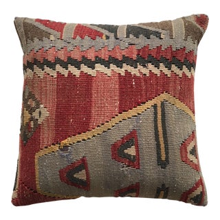 20th Century Wool Kilim Turkish Pillow - Large