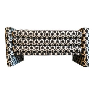 Black and White Graphic 3 Tiered Bench For Sale