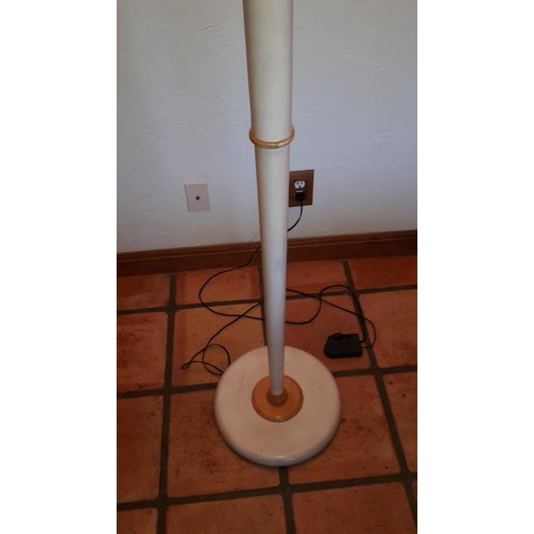 1990s Grange French Country White Floor Lamp with White Top & White Base For Sale - Image 5 of 7