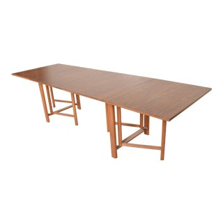 Mid Century Danish Modern Maria Table, Bruno Mathsson Scandinavian Modern For Sale