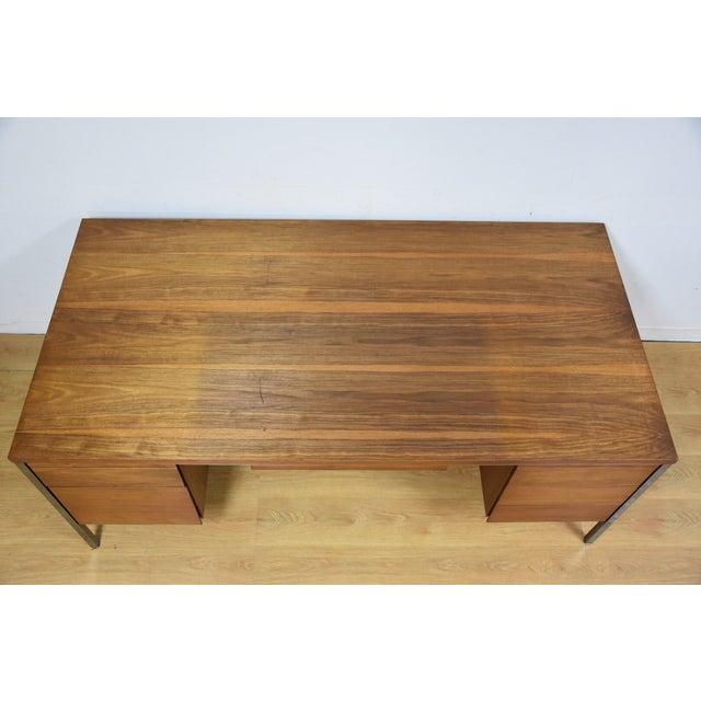 Lehigh Leopold Walnut Executive Desk For Sale In Boston - Image 6 of 11
