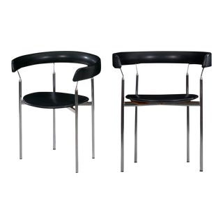 "Circa 1960s Steel ""Rondo"" Chairs by Jan Lunde Knudsen for Sorlie Møbler - a Pair For Sale"