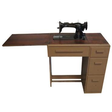 Vintage Singer Sewing Table - Image 1 of 11