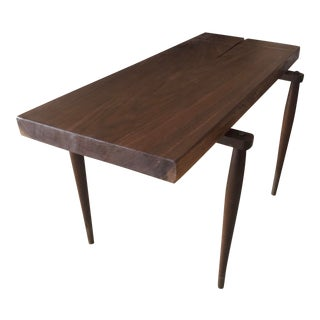Walnut Coffee Table With Mid Century Side Legs For Sale