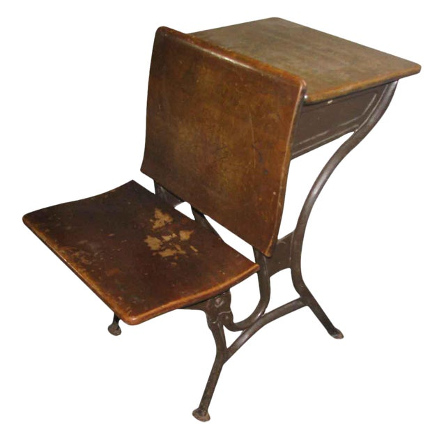 Old School House Student Desk - Image 1 of 9