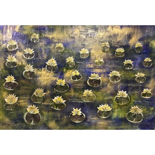 """Lilly Pads"" Mixed Media Panting For Sale"
