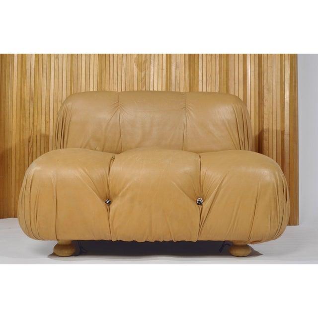 Mario Bellini 'Camaleonda' Chair and Ottoman, 1970s For Sale - Image 9 of 12