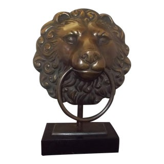 Cast Iron Lion Head Mantle Lamp