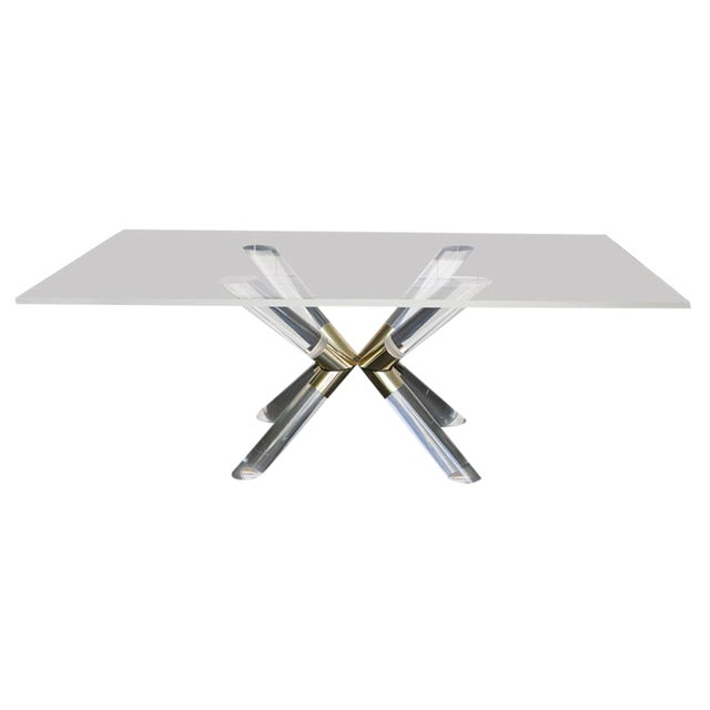 """Pole and Truss"" Dining Table by Charles Hollis Jones For Sale"