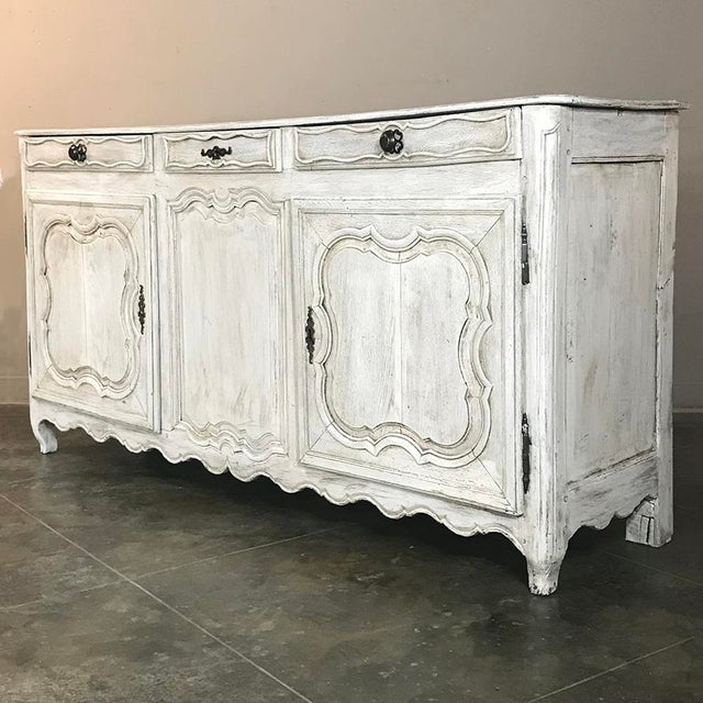 Country 18th Century Country French Whitewashed Buffet For Sale - Image 3 of 13