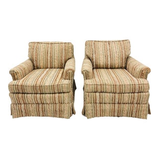 "Pair Vintage ""Perfection"" Tweed Club Chairs For Sale"