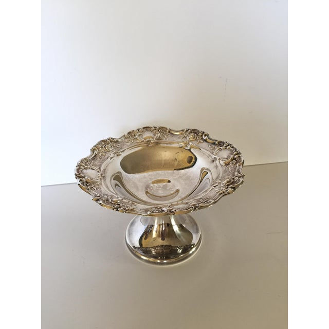 Hollywood Regency Old Master Towle Silver Pedestal Bowl Candy Dish For Sale - Image 3 of 6