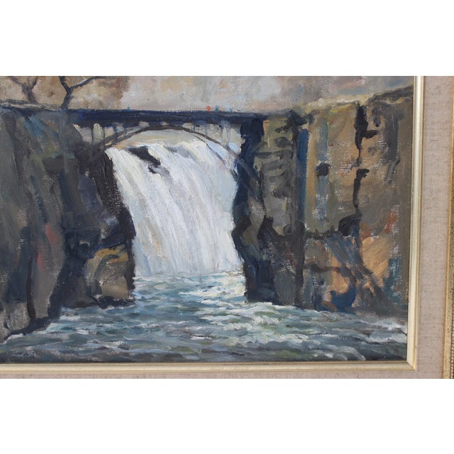 """1990s Vintage Oil Painting """"Paterson Falls"""" John Elliot, Opa For Sale - Image 5 of 12"""