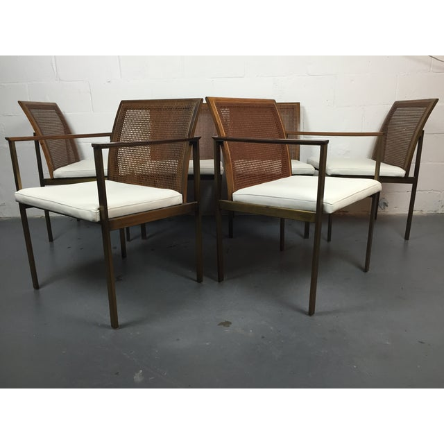 Paul McCobb Cane & Leather Dining Chairs - S/6 - Image 2 of 11