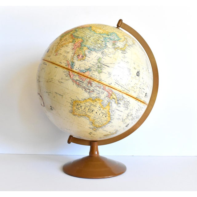 "Vintage 12"" Replogle Globemaster Topographical Relief Globe For Sale - Image 4 of 10"