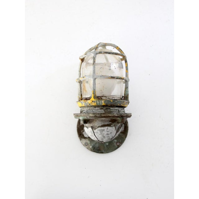 Glass Vintage Boat Sconce For Sale - Image 7 of 7